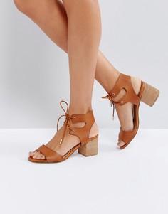 Светло-коричневые босоножки на среднем каблуке Call It Spring Edaliwia - Рыжий