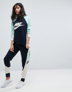 Трикотажные брюки колор блок Nike - Синий