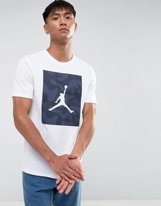 Белая футболка с камуфляжным принтом Nike Jordan 925809-100 - Белый