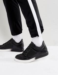 Черные фактурные кроссовки средней высоты ASOS - Черный