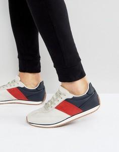 Серые кроссовки из искусственной замши в стиле ретро ASOS - Серый