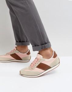 Кроссовки в стиле ретро из парусины и искусственной замши ASOS - Розовый