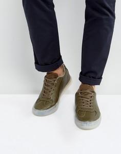 Кроссовки цвета хаки с полупрозрачной подошвой ASOS - Зеленый