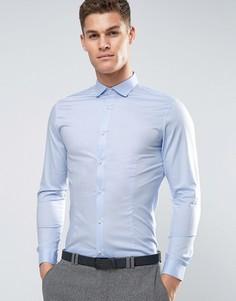 Строгая рубашка скинни Jack & Jones Premium - Синий