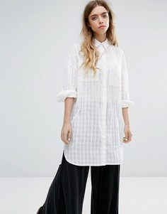 Пляжная рубашка с удлиненным подолом Native Youth - Белый