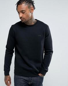 Черный свитшот с круглым вырезом и логотипом Armani Jeans - Черный