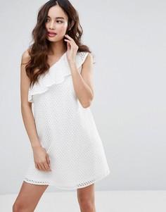 Платье на одно плечо Fashion Union - Белый