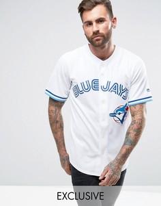 Рубашка с принтом Toronto Blue Jays от Majestic MLB - Белый