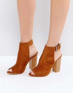 Коричневые туфли на каблуке с открытым носком RAID Rosie - Коричневый