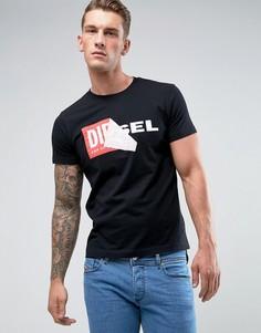 Футболка с логотипом Diesel T-Diego-QA - Черный