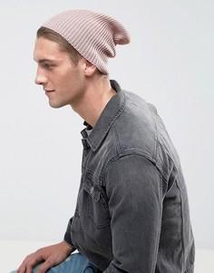 Светло-розовая свободная шапка‑бини ASOS - Розовый