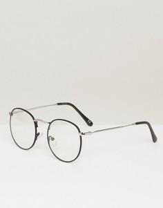 Черные очки с прозрачными стеклами ASOS - Черный
