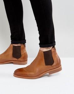 Светло-коричневые кожаные ботинки челси Hudson London - Рыжий