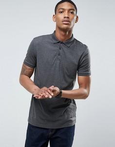 Темно-серая футболка-поло ASOS - Серый