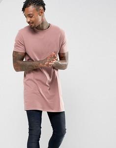 Длинная футболка ASOS - Розовый