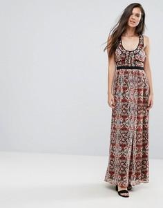 Платье макси с цветочным принтом BCBG - Мульти