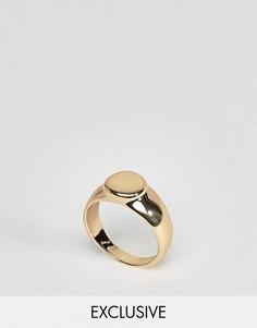 Золотистое кольцо на мизинец с печаткой DesignB эксклюзивно для ASOS - Золотой