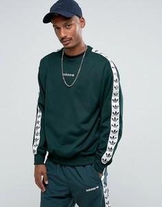 Зеленый свитшот с круглым вырезом adidas Originals Adicolor TNT BR6752 - Зеленый