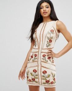 Платье с цветочной отделкой Frock and Frill - Розовый