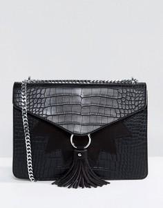 Черная сумка на плечо с кисточками Skinnydip - Черный