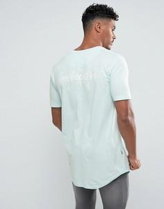 Обтягивающая футболка мятного цвета с принтом на спине Good For Nothing - Зеленый