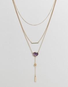 Ожерелье в несколько рядов Ashiana - Золотой