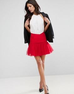 Мини-юбка в стиле 80-х из тюля ASOS - Красный