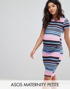 Платье-футболка в полоску ASOS Maternity PETITE - Мульти