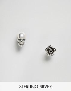 Серебряные серьги-гвоздики Regal Rose - Серебряный