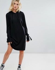Трикотажное платье с капюшоном Daisy Street - Черный