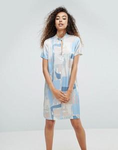 Шелковое платье с принтом mbyM - Мульти