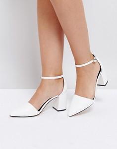Туфли на блочном каблуке Truffle Collection - Белый