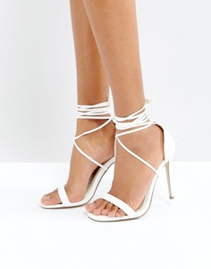 Сандалии на каблуке и шнуровке Missguided - Белый