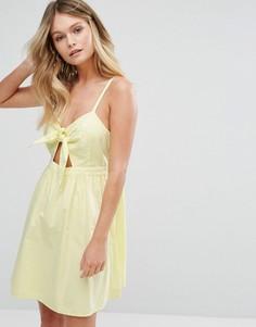 Сарафан с бантиком New Look - Желтый