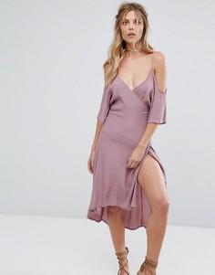 Платье с вырезами на плечах Glamorous - Фиолетовый