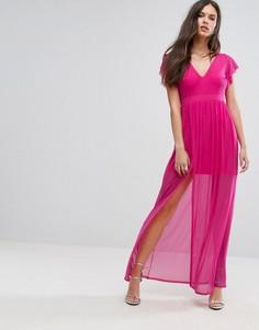 Платье макси с разрезом Outrageous Fortune - Розовый