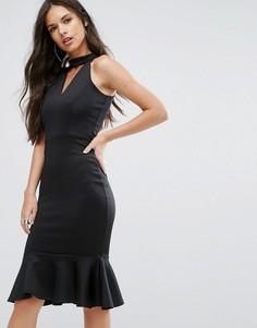 Платье миди с высоким воротом Outrageous Fortune - Черный