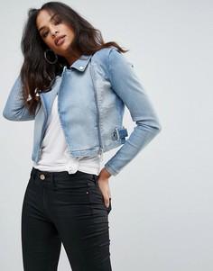 Короткая джинсовая куртка Forever Unique - Синий