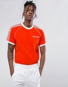 Оранжевая футболка adidas Originals Osaka California CV8952 - Оранжевый