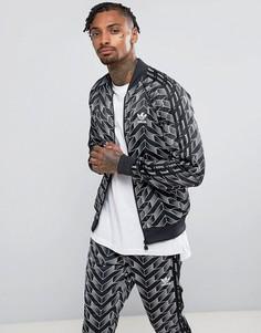 Черная спортивная куртка adidas Originals Superstar Football BQ2014 - Черный