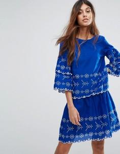 Топ с вышивкой Vero Moda - Синий