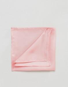 Розовый шелковистый платок для нагрудного кармана ASOS - Розовый