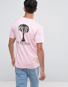 Футболка с принтом пальмы на спине Calvin Klein - Розовый HUF