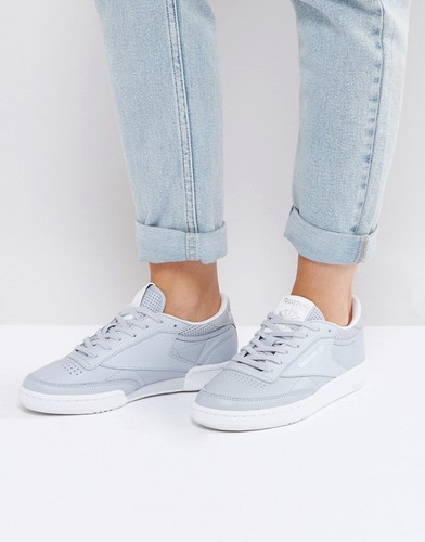 Пастельно-серые классические кроссовки Reebok Club C - Серый