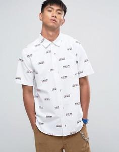 Рубашка классического кроя с логотипом HUF - Белый
