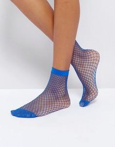 Сетчатые носки Monki - Синий