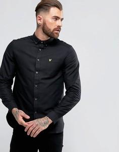 Черная оксфордская рубашка Lyle & Scott - Черный