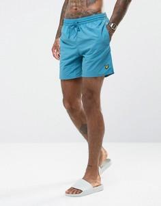 Голубые шорты для плавания Lyle & Scott - Синий