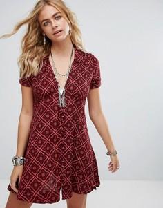Платье Free People - Красный