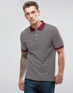 Бордовая футболка-поло Lyle & Scott - Красный